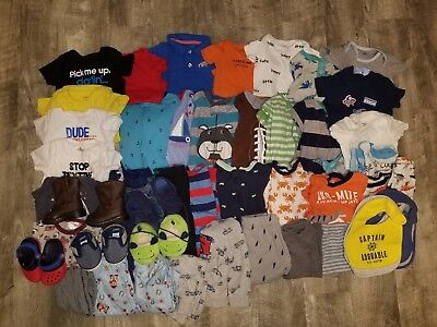 Huge Lot of Baby Toddler Boy's Size 12-18 Months and 5 pairs of shoes