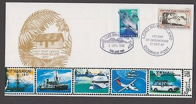 Lord Howe Island 1998 $1.80 GOWER WILSON COURIER POST-Cinderella/Local -FDC
