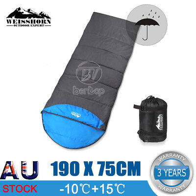 Outdoor Camping Envelope Sleeping Bag Thermal Tent Hiking Winter Single -10°C