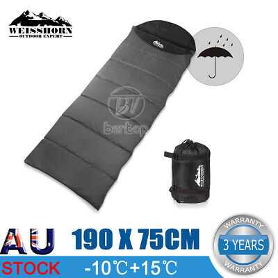 Weisshorn Outdoor Camping Envelope Sleeping Bag Thermal Tent Hiking Winter -10°C