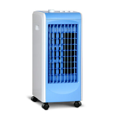 Portable Air Cooler and Humidifier Conditioner - White & Blue