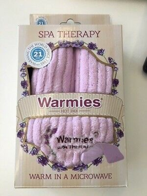 Intelex Warmies Lavender Scented Pink Spa Therapy Hot Pak Microwavable NECK WRAP