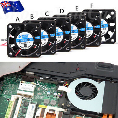 12V 40/50/60/80mm 2 Pin/3 pin Brushless Computer CPU Case Cooler Cooling Fan PC