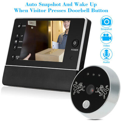 3.5'' LCD  Video Digital Door Monitor Peephole Doorbell IR Camera Viewer 32GB