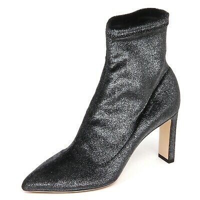 57464a5359fd E6574 tronchetto donna dark grey JIMMY CHOO stretch metallic velvet boot  woman