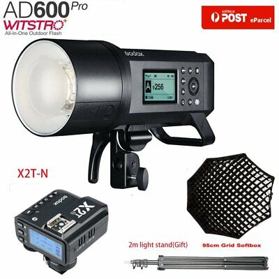 AU Godox AD600Pro TTL Outdoor Flash+X2T-N Trigger Fr Nikon+95cm Grid Softbox Kit