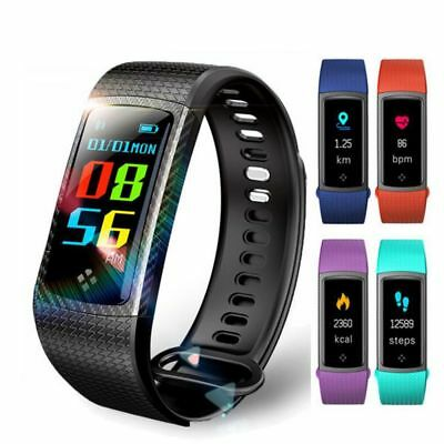 LEMFO Color LCD Screen Heart Rate Blood Pressure Monitor Fitness Smart Watch