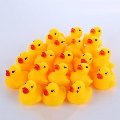 5/20X Baby Children Bath Toys Cute Fun Rubber Squeaky Mini Duck Ducky Squeaky TU