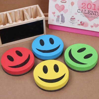 Smile Face Magnetic Dry-Wipe Whiteboard Marker Cleaner Eraser School Office TU