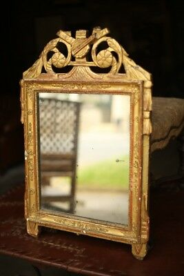 Stunning 18th/19th century French Gilt mirror with lightly distressed glass