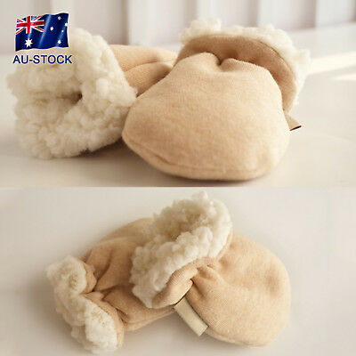 Cute Thicken Warm Fleece Infant Baby Boy Girls Winter Warm Gloves Newborn Mitten