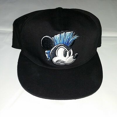 Disney Mickey Mouse Youth Boys Boy Hat Cap Black Flex Fit Graffiti Flat Bill