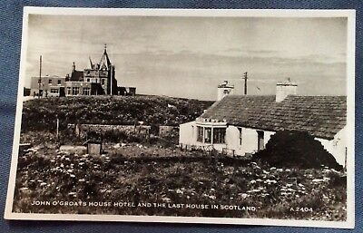 John O'Groats House Hotel And The Last House In Scotland. Rppc