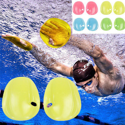 2PC Agility Hand Paddles Webbed Diving Gloves Training Swimming For Pool Beach