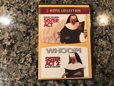 Sister Act/Sister Act 2: Back In The Habit Dvd! 1992/1993 Musicals!