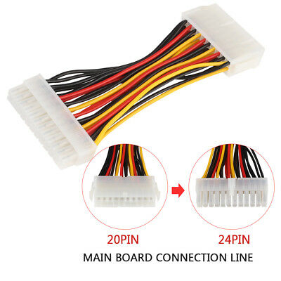 20 To 24pin Plastic Power Supply Cable Connector Adapter Cable Universal