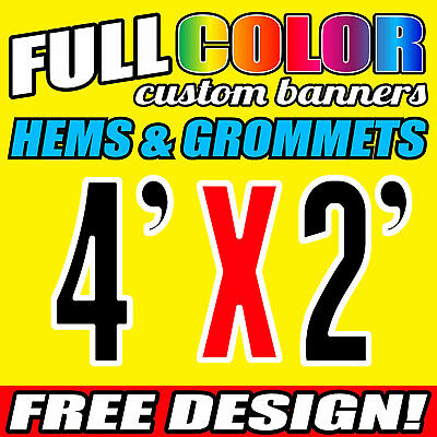 Printed Outdoor Vinyl Sign For Buiness and Parties PVC Banner 3ft x 6ft