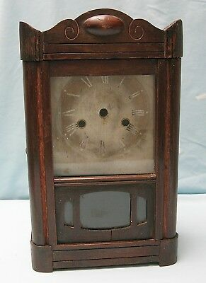 Genuine Antique Mantel Clock Case with Original Dial Plate