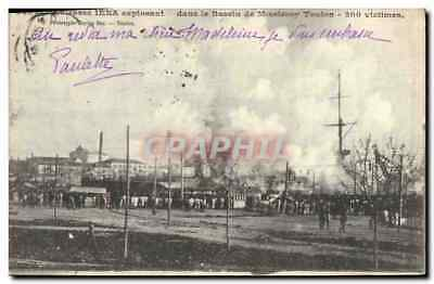 Vintage Postcard armours It Iena exploding in the basin of Missiessy Toulon