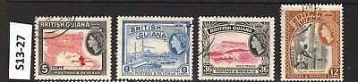 BRITISH GUIANA (now GUYANA) - STAMPS FROM AN OLD COLLECTION (S13-27)