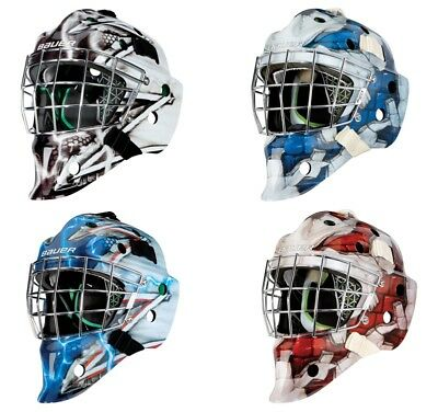 75a7ce552a7 BAUER NME 4 Torwartmaske Junior Design King - Wall Red - Wall Blue - King  NYR