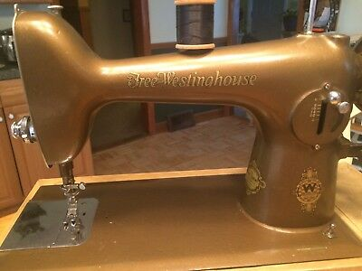 Antique Electric Sewing Machine Free-Westinghouse!!!  Works With carrying case.