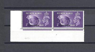 "MOROCCO AGENCIES/TANGIER 1948 SG 258A ""Crown Flaw "" MNH PAIR Cat £100"