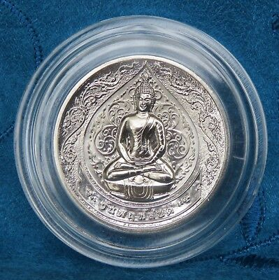 Thailand Thursday Buddha Medal Coin Phra Samathi Meditation Thai Amulet