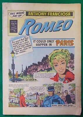 "ROMEO COMIC Jan 14th 1961 ""It could only happen in Paris"" ""Anthony Franciosa""."