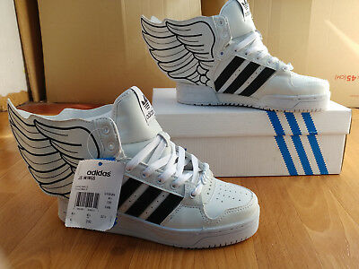 newest 25f01 bc4f0 Adidas Jeremy Scott Wings 2.0 sneakers Instinct Hi Top JS White Obyo G19589  sz 6