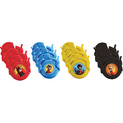 12 The Incredibles Disc Shooters Party Favours Loot Bag Fillers Super Hero Party