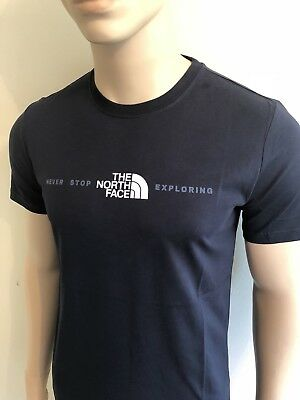 e02ffd602 MEN'S THE NORTH Face T-Shirt Never Stop Exploring XLarge Navy/blue ...