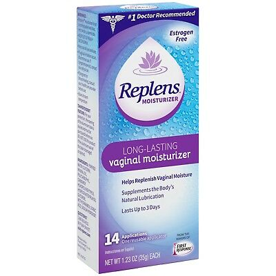 Replens Vaginal Moisturizer,  14 Application, Expires 2020, DISCREET SHIPPING