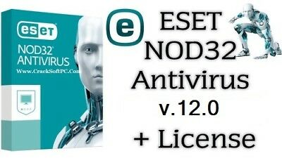 Eset NOD32 Antivirus V.12  2019 to 2021  | 2 PC 2 YEARS | EMAIL DELIVERY