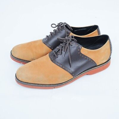 Cole Haan Mens Grand OS Oxfords Sz 13 M Brown Leather Suede Extra Light