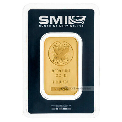 1 oz Sunshine Mint Gold Bar