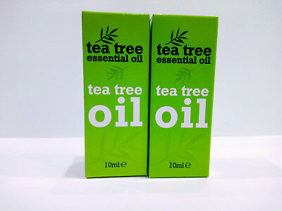 2 x 10 ml Tea Tree Essential Oil For Skin Nails Antiseptic Anti Fungal