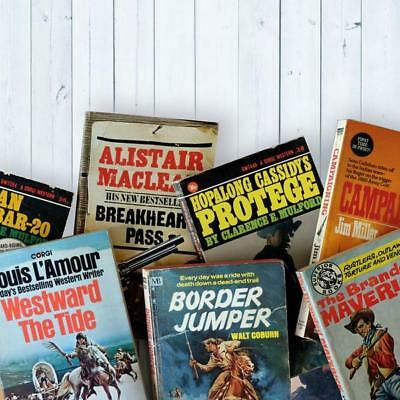 Vintage Western Book Bundle - Western Collection Mini Library