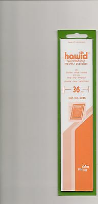 HAWID MOUNTS 36 mm strips clear pack of 25