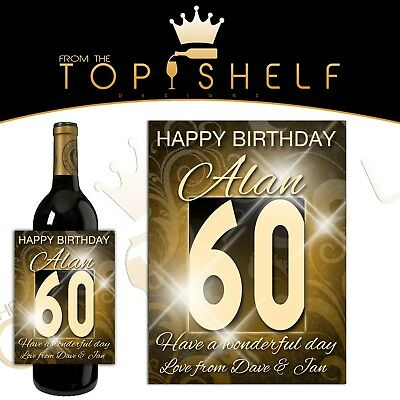 personalised wine bottle label special milestone birthday any age