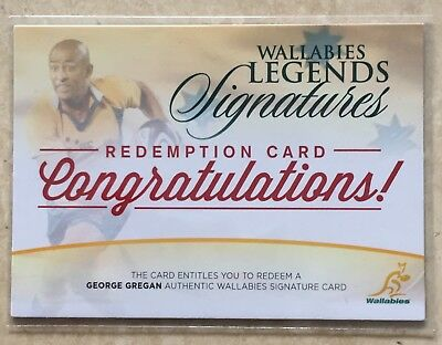 2017 Tap N Play Rugby Union George Gregan Wallabies Signatures Redemption