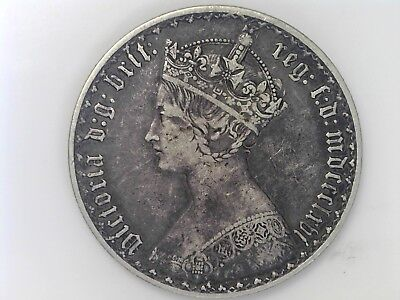 1866 Great Britain One Florin - Silver