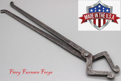 NEW, Hand Forged, Blacksmith Pick Up Tongs, made from NEW 5160 Spring Steel