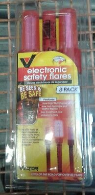 New Victor LED Electronic Emergency Road Flare (3-Pack)