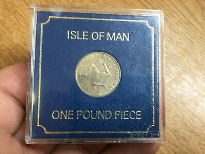 Isle of Man 1978 One Pound Coin In Case