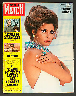'paris-Match' French Vintage Magazine Raquel Welch Cover 9 May 1970
