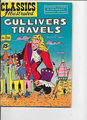 Classics Illustrated  #16  hrn 89  Gulliver's Travels