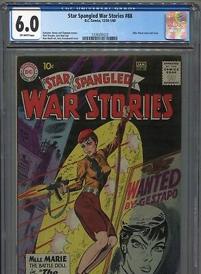 1959-60 Dc Comics Star Spangled War Stories #88 Mademouiselle Marie Cgc 6.0 Ow
