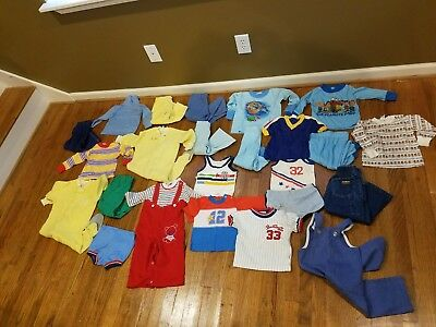 Lot of Vintage Toddler Clothes 24 Pieces Health tex Carters & more sz 2t