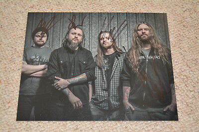 DECAPITATED signed Autogramm 20x25 cm In Person komplette Band
